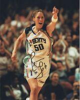 REBECCA LOBO SIGNED NEW YORK LIBERTY WNBA BASKETBALL  8X10 PHOTO #2