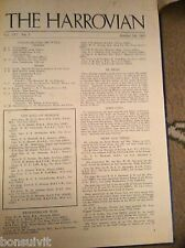 L1-5 original harrow school magazine the harrovian october 21st 1942