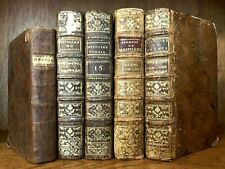 COLLECTION OF ANTIQUE BOOKS FROM XVIII CENTURY