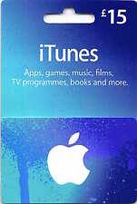 Auténtico 15 GBP Apple iTunes certificado de código de tarjeta de regalo £ 15 Libra británica Reino Unido