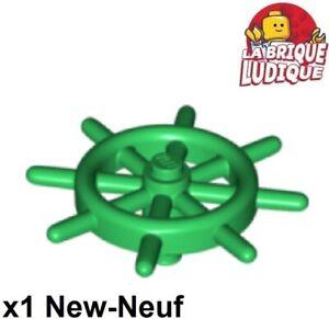 Lego - 1x Bateau Boat Ship's Wheel gouvernail vert/green 4790b NEUF