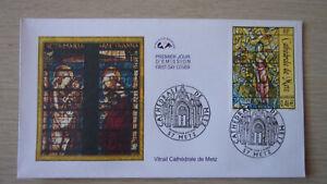 2002 France Enveloppe 1er Jour Vitrail Cathédrale de Metz 06/07