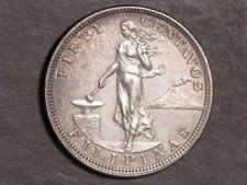 PHILIPPINES 1903 50 Centavos Silver AU-UNC
