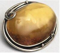 Bernstein Brosche Silber Butterscotch Amber (BN)