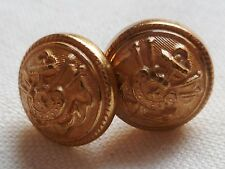 Boutons dorés pour jugulaire casquette AMIRAL MARINE NATIONALE France ORIGINAL 1