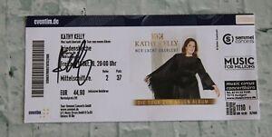 ORIGINAL Autogramm von Kathy Kelly. 100 % ECHT. Signiertes Ticket. WER LACHT Ü..