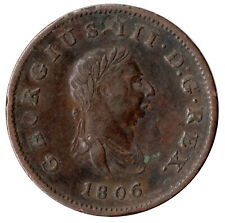 More details for 1806 half penny of george iii.  - nice collectable coin    #23