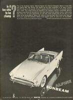 1961 Alpine PRINT AD Sunbeam Convertible Sports Car 2-Door