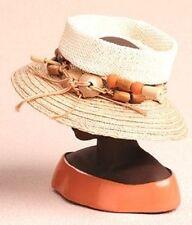 Harriet Rosebud Minature Hat Woven Open Crown #3124