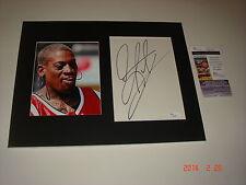 NBA BULLS Dennis Rodman Signed Autograph CUT 11x14 Color Photo JSA COA FREE SHIP