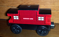 NEW SODOR WOODEN CABOOSE~ Thomas~ fit ALL TRAIN TRACK