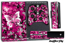 Designer XBOX ONE 1 Skin Game Console Decal Plus 2 Controller Sticker BUTTERFLY