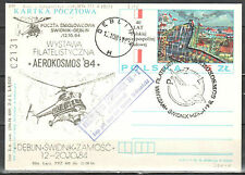 Poland 1984 Stamp Exhibitions - Helicopter Flight Card