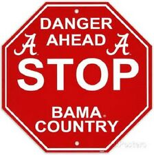NFL Football Danger Ahead Wall Stop Country Alabama Crison Tide Plastic Sign 12""