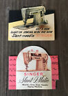 Vtg+SINGER+sewing+hand+needle+cases+cards+Slant-O-Matic+zig+zag+machine