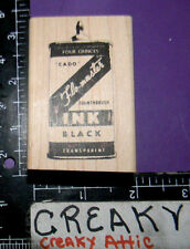 FLO MASTER INK BLACK CAN LABEL RUBBER STAMP STAMPERS ANONYMOUS HOLTZ J2-1869