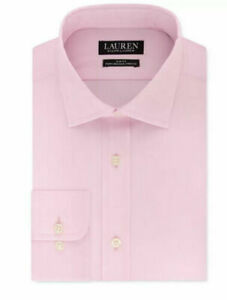 Lauren Ralph Lauren  Ultraflex Slim No Iron Stretch Pink Dress Shirt 16 32/33