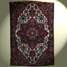 Antik Echt Perser Teppich 198x132 cm handgeknüpft  Iran Bachtiar Heriz Vintage