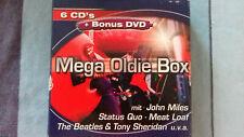 MEGA OLDIE-BOX  60s-80s: 6 CD- + 1 DVD-Set ~ 75 ORIGINAL CD- Hits + 8 DVD- HITS