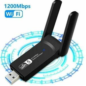 1200Mbps Dual Band 5GHz Long Range Wireless WiFi Adapter 3.0 Neu USB T0X2