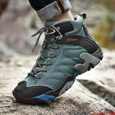 Winter Mens Combat Boots Lace up High Top Outdoor Hiking Climbing Work Shoes NEW