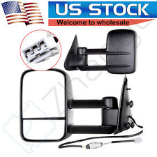 For 97-03 Ford F150 Side View Mirror Power Pair Set Towing Mirrors L+R NO Heated