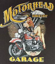 T-Shirt #455 MOTORHEAD GARAGE PIN UP HOTROD ROUTE 66 BIKER SKULL USA ARMY