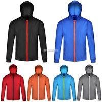 Men's Boy's Hooded Zipper Outwear Loose Sports Trench Wind Rain Coat Jacket Top