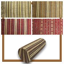 Bolster Cover*Striped Chenille Neck Roll TubeYoga Massage Pillow Case Custom*Wk8