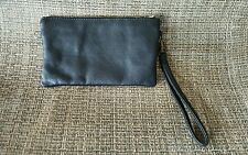 silence and noise urban Outfittersblack leather suede wristlet women small purse