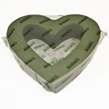 Floristry open heart oasis x 2 funeral tribute shape wet foam  polymer base 15in
