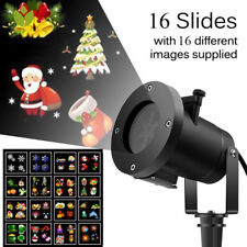 Proyector láser de Navidad Luces Led 16 Patrones Navidad Fiesta de jardín Lámpara al Aire Libre