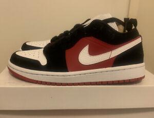 Wmns Air Jordan 1 Low Black/white-gym Red  US 7