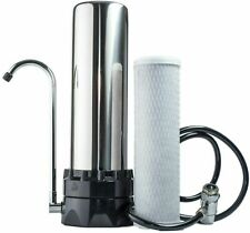 Water Purifier Filter Stainless Steel Countertop Clean Drinking, 10 Micron - NEW