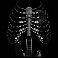 Guitar Skeleton Microphone Rock Music Lovers Funny T-Shirt Tee