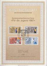 TIMBRE FDC ALLEMAGNE  BERLIN OBL ERSTTAGSBLATT ARTISANAT D HIER   1987