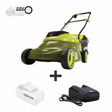 Sun Joe Cordless Lawn Mower with Brushless Motor | 24-Volt | 5-Ah | 14-Inch