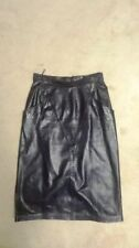Below Knee Leather Dry-clean Only Solid Skirts for Women