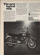 Original 1968 Suzuki T-305 Raider Motorcycle Magazine Ad