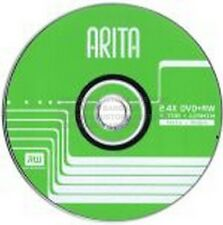 10 x ARITA BLANK 2.4X speed DVD+RW Discs 4.7GB Re-Writable Burner New Loose