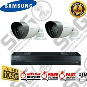 Samsung All In One Kit Hybrid 8 Channel HD 2 Camera Home Business CCTV Security