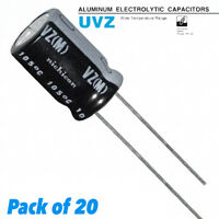 qty 2 NICHICON UVZ1C102MPD 1000UF 16-VOLT HI-TEMP 105-DEG AUTHORIZED DISTRIBUTOR