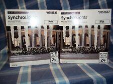 GEMMY LED LIGHTS SYNCHROLIGHTS WHITE ICICLE #0351637   (LOT OF 2 BOXES) NIB