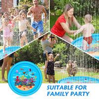 170 cm Inflatable Sprinkle Splash Mat Baby Kid Garden Water Spray Play Pool   -