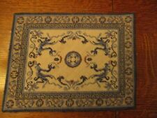 "8"" X 10 1/2"" Vintage Needlepoint Rug For Dollhouse"