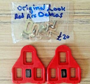 LOOK DELTA ARC SHOE PLATES ORIGINALS WITH FITTINGS MADE IN FRANCE RRP £20