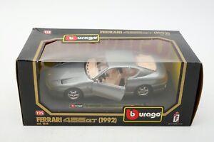 Burago 1992 Ferrari 456 GT  Die-cast Grey 1:25 scale MINT+Car+Box