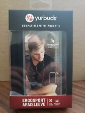 Yurbuds Ergosport Armsleeve Black/Red compatible with iphone 5 Brand New!!!!!!!!