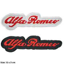 Toppe ALFA ROMEO stemma moto patch termoadesiva kit set 2 motors motocycle