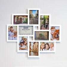 Multi Bilderrahmen Collage Galerie Fotorahmen Mehrfach weiß für 10 x 15 cm Fotos